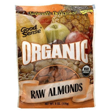 Good Sense Organic Raw Almonds, 6 Ounce Bag