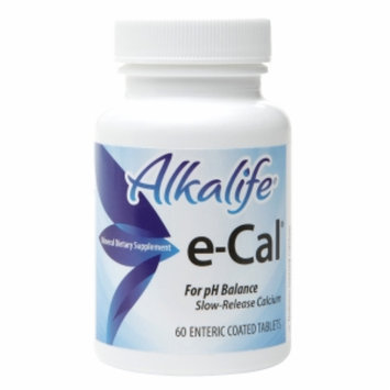 Alkalife e-Cal Slow-Release Calcium for pH Balance, Tablets, 60 ea