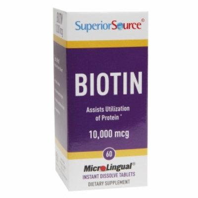 Superior Source Biotin 10,000mcg, Tablets, 60 ea