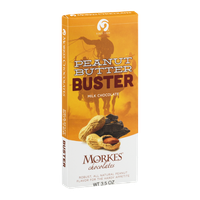 Morkes Chocolates Milk Chocolate Bar Peanut Butter Buster