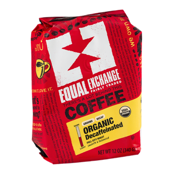 Equal Exchange Coffee Organic Decaffeinated Full City Roast Ground