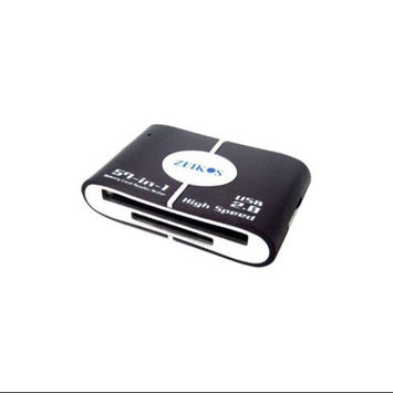Zeikos 57 All in 1 USB 2.0 Memory Card Reader (CF/SD/SDHC/MS/MS Pro Duo/xD)