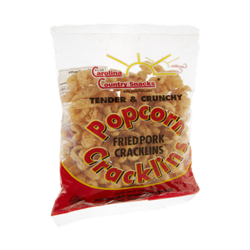 Carolina Country Snacks Popcorn Seasoned with Red Pepper Fried Pork Cracklins