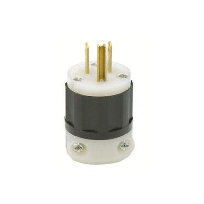 Leviton Mfg #01171 061-5266-C Grounded Nylon Plug