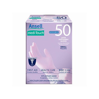 Ansell Medi-Touch Powder Free Latex Disposable Gloves