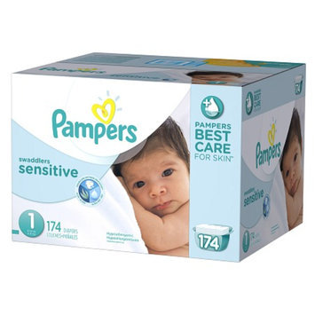 Pampers Swaddlers Sensitive Diapers Economy Plus Pack Size 1 (174