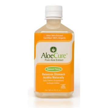 American Global Health Group, LLC AloeCure Pure Aloe Vera Juice for Bouts of Acid Reflux, Heartburn, and IBS Natural Flavor, 1 Bottle