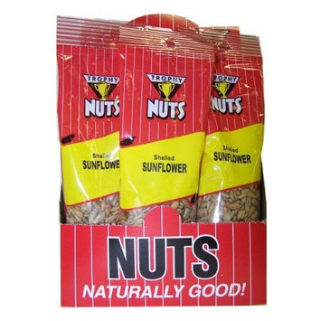 Trophy Nut Shelled Sunflower Seeds, 3-Ounce Bags (Pack of 16)