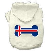 Mirage Pet Products Bone Shaped Iceland Flag Screen Print Pet Hoodies Cream Size XL (16)