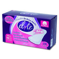 Elyte Light Cotton Incontinence Pads, Mini, Pack of 20