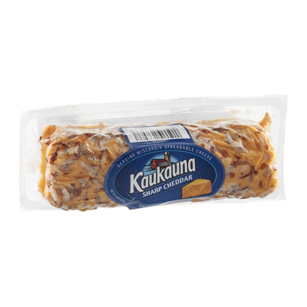 Kaukauna Wisconsin Spreadable Cheese Log with Almonds Sharp Cheddar
