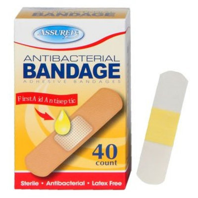 Assured Antibacterial Bandage, adhesive bandages, Germ-fighting Protection