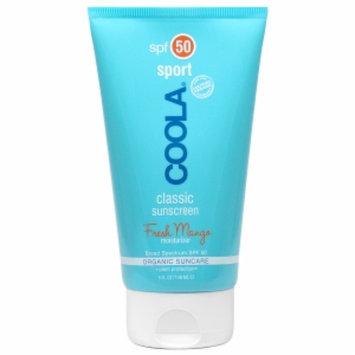 Coola COOLA Sport, Classic Sunscreen Moisturizer, Organic Suncare, SPF 50, Fresh Mango, 5 fl oz
