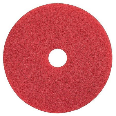 TOUGH GUY 4RY21 Buffing and Cleaning Pad,20 In, Red, PK5