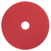TOUGH GUY 4RY16 Buffing and Cleaning Pad,11 In, Red, PK5