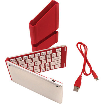 iWerkz Universal Foldable Bluetooth Keyboard, Red, 1 ea