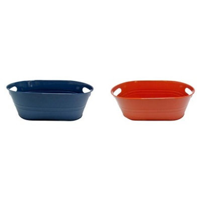 Pin Jang Enterprises Assorted Table Beverage Tub Threshold Blue/Orange