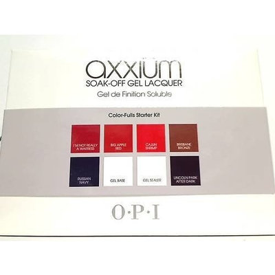 OPI Axxium Soak-Off Gel Lacquer Color-Fulls Starter Kit