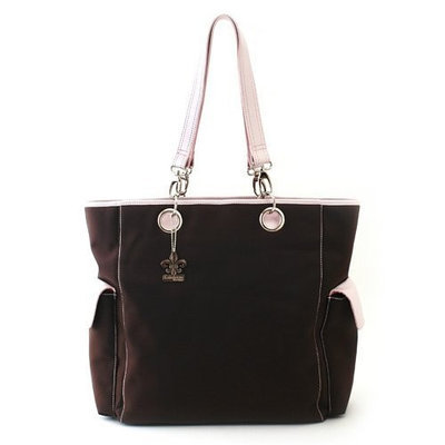 Kalencom Maxi Tote, Chocolate/Pink (Discontinued by Manufacturer)