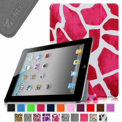 Fintie SmartShell Case for Apple iPad 4th Generation with Retina Display, iPad 3 & iPad 2, Giraffe Magenta