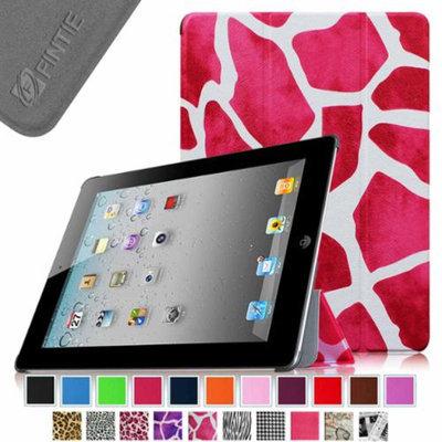 Fintie SmartShell Case for Apple iPad 4th Generation with Retina Display, iPad 3 & iPad 2, Giraffe Magenta