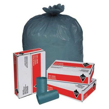 Tough Guy 55 gal Blue Trash Bags (Super Heavy Strength Rating, Coreless Roll) [PK/50]. Model: 15E494