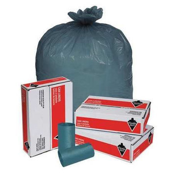Tough Guy 45 gal Blue Trash Bags (Super Heavy Strength Rating, Coreless Roll) [PK/50]. Model: 15E485