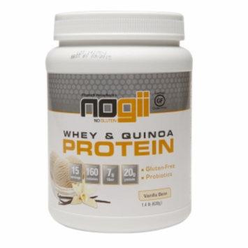 Nogii Whey & Quinoa Protein Powder, Vanilla Bean, 1.4 LB