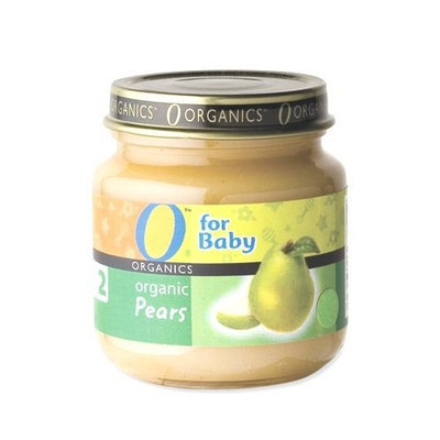 O Organics for Baby Organic Pears, Stage 2, 4 Ounce Jars (Pack of 12)