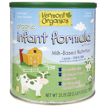 Vermont Organics DHA Milk Based Organic Infant Formula- 25.7 oz can