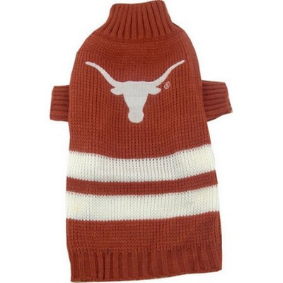 Pets First Inc. Pets First 302764 Texas Longhorns Dog Sweater Large