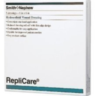 Smith & Nephew Smith and Nephew Replicare Hydrocolloid Dressing, 4 Inches x 4 Inches - 5 ea