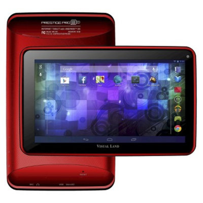Visual Land Prestige 9D Dual Core 8GB Android 4.2 Tablet - Red