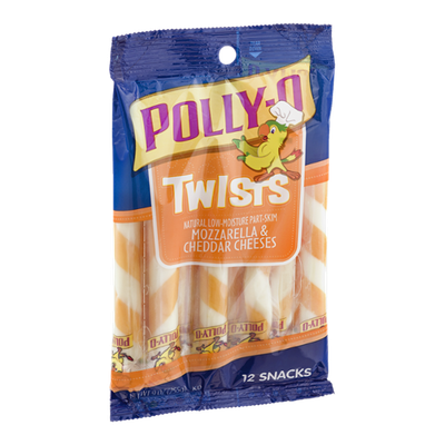 Polly-O Mozzarella & Cheddar Cheeses Twists - 12 CT