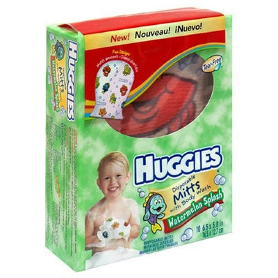 Huggies Disposable Mitts with Body Wash, Watermelon Splash, 10 mitts