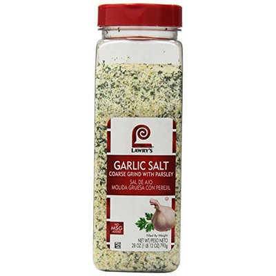 Lawrys Lawry's Garlic Salt: Coarse Ground with Parsley (33 oz. or 2.06 lbs) New Larger Size