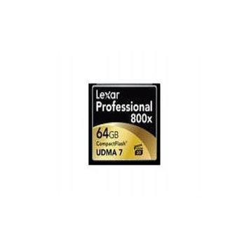 Lexar Professional - Flash memory card - 64 GB - 800x - CompactFlash