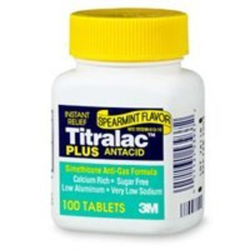 Titralac Plus antacid and anti-gas relief tablets - 100 ea