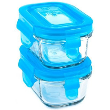 Wean Green Wean Tubs 5oz/150ml Baby Food Glass Containers - Blueberry (Set of 2)