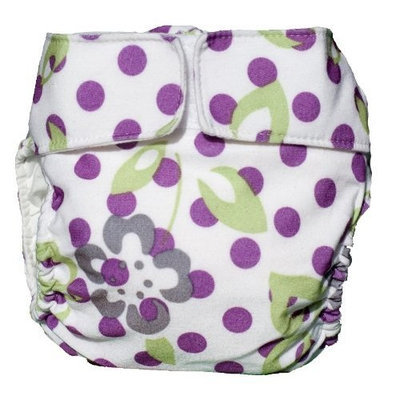 CuteyBaby Modern Cloth Diaper (Purple Lime Floral)