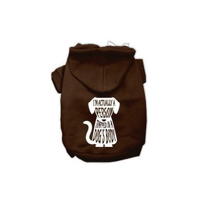 Mirage Pet Products Trapped Screen Print Pet Hoodies Brown Size Med (12)