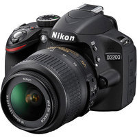 Nikon D3200 Digital SLR Camera with 24.2 Megapixels and 18-55mm VR Lens Included (Available in Black and Red)
