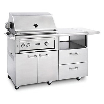 Lynx Professional 30 in. Grill with Rotisserie on Mobile Kitchen Cart