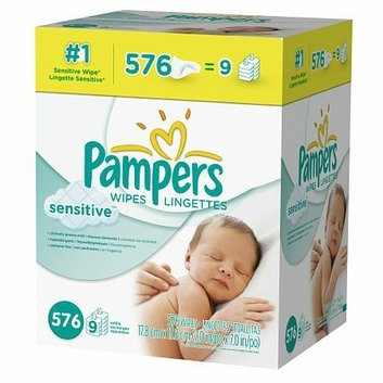 Pampers Sensitive Baby Wipes Refills Sensitive 9 Pack