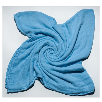 Austin Tie Dye Co Bamboo Swaddle Blanket for Babies - Light Blue