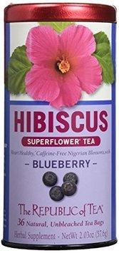 The Republic of Tea - Hibiscus Superflower Tea Blueberry - 36 Tea Bags