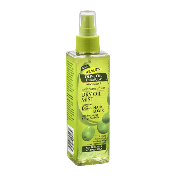 Palmers Weightless Shine Dry Oil Mist Hair Elixir Olive Oil Formula