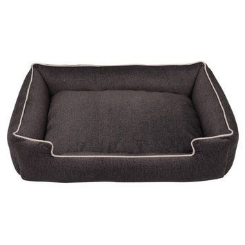 Jax And Bones Jax & Bones Standard Lounge Dog Bed Chrome Plush, Size: Large