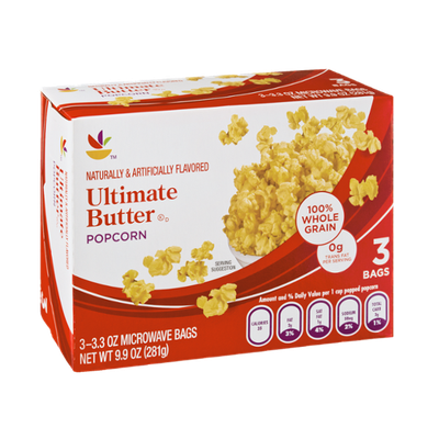 Ahold Ultimate Butter Popcorn - 3 CT