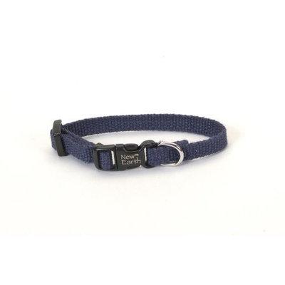 Coastal Earth Soy Dog Collar, .75-Inch Wide, Indigo Blue